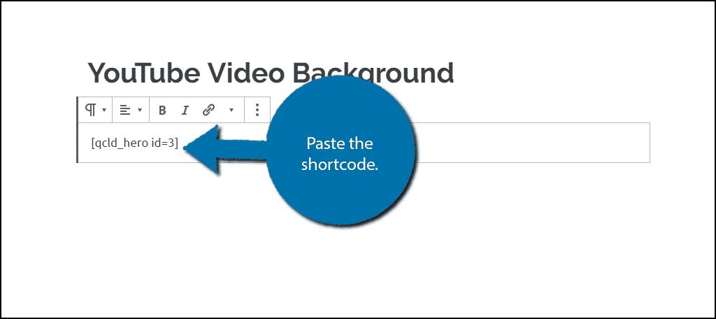 Paste shortcode