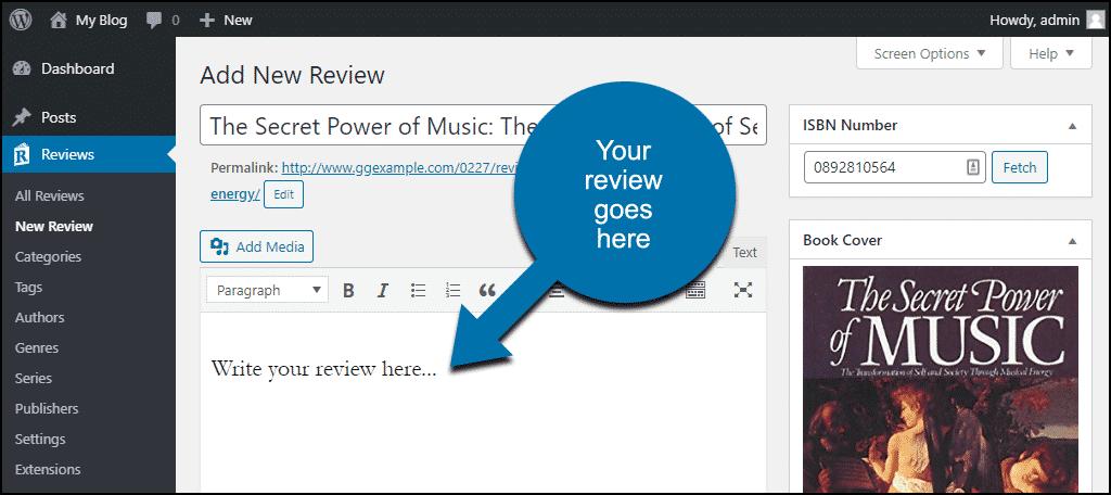 enter review