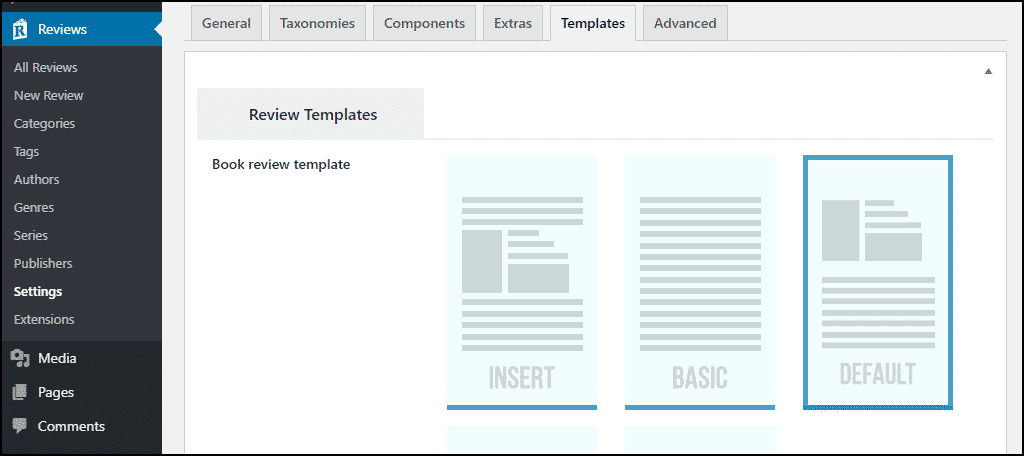 "the ""Templates"" tab"