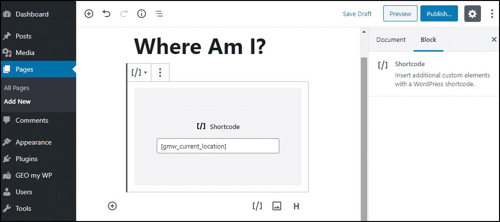 where am I page