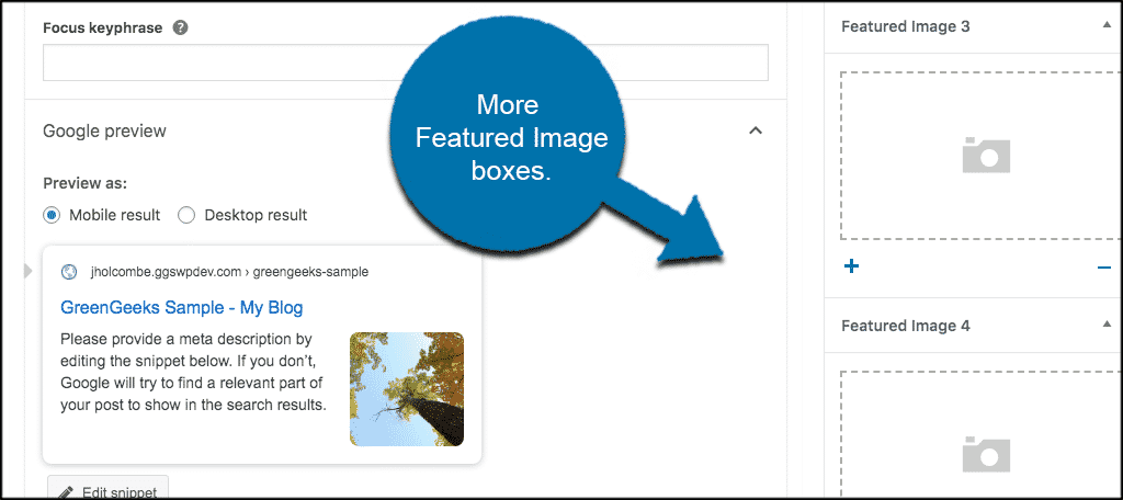 Add as many Dynamic Featured Images as you want