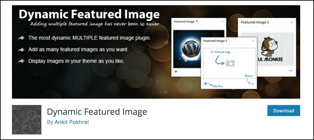 Dynamic Featured Image plugin