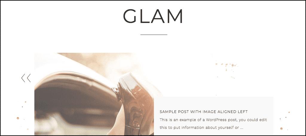 Glam theme
