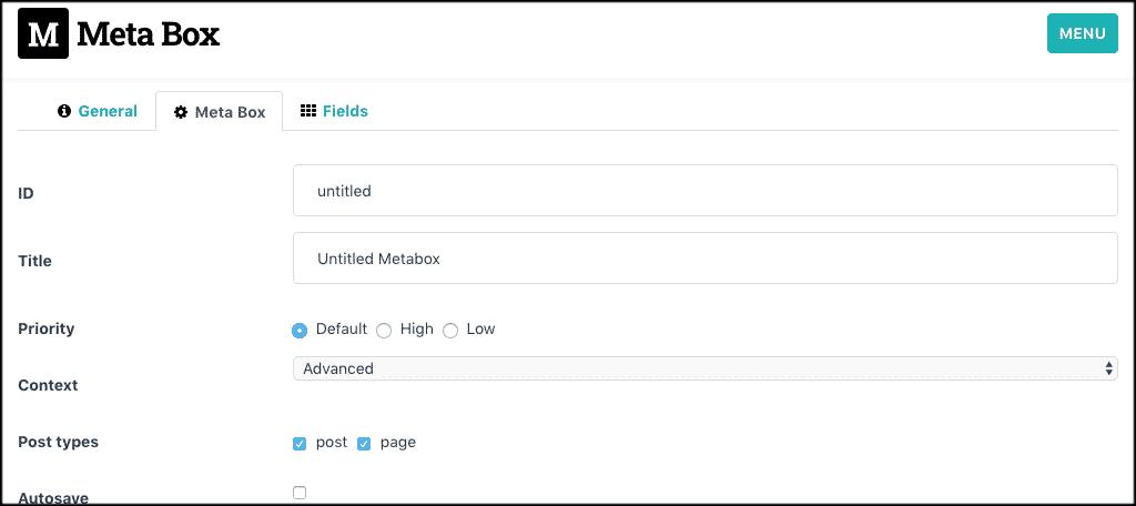Meta box tab