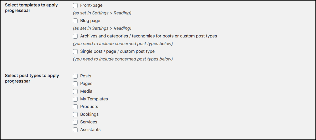 More plugin options