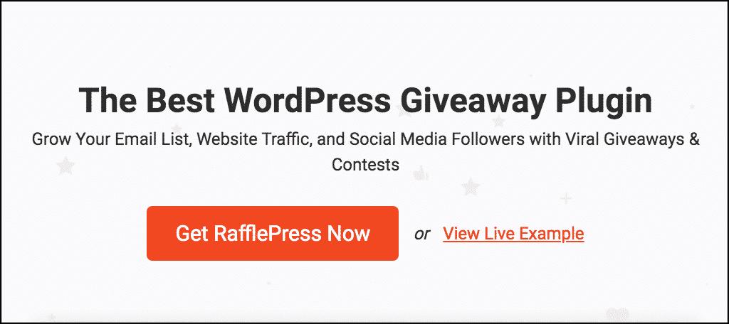 RafflePress plugin