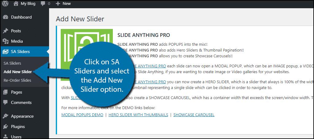 Add New Slider