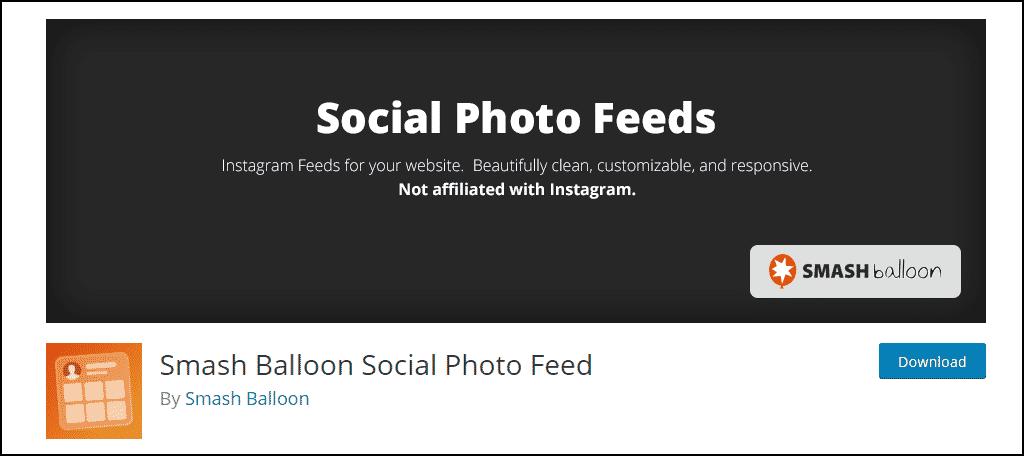Social Photo Feed plugin