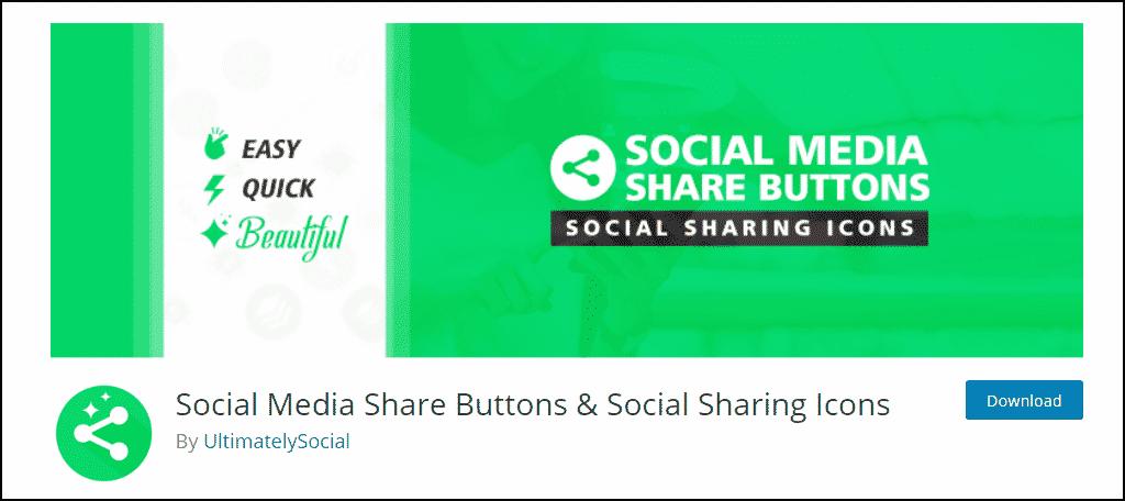 Social Media Share plugin