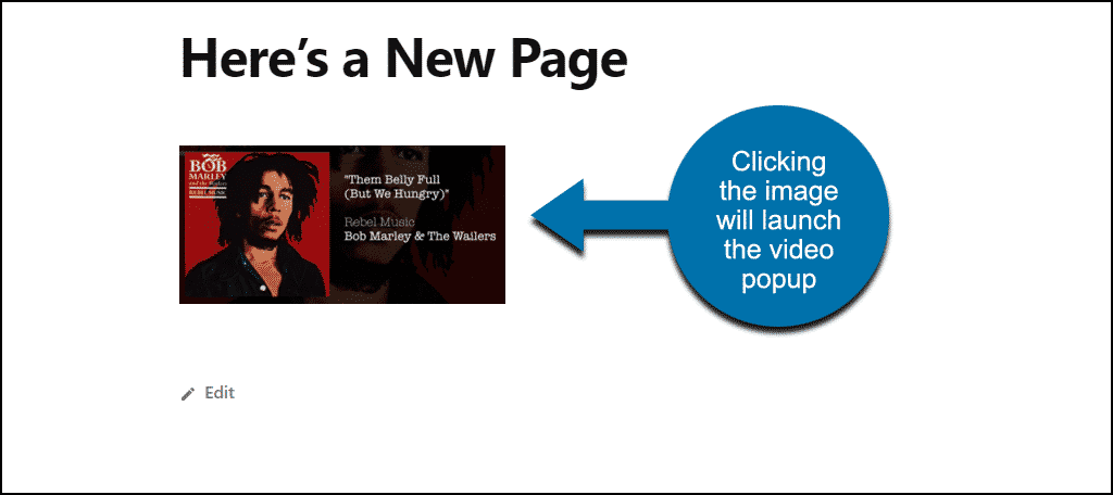 clickable image on page