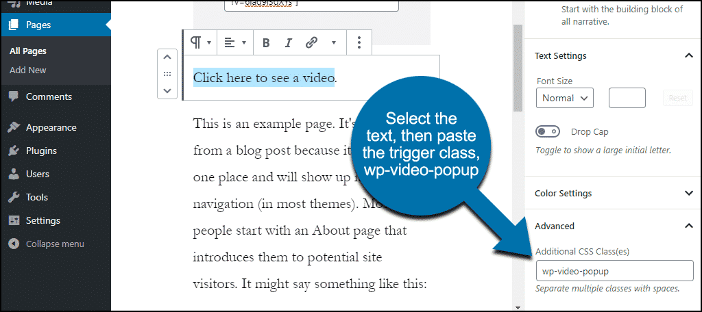 paste the trigger class