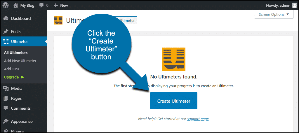 "click the ""Create Ultimeter"" button"