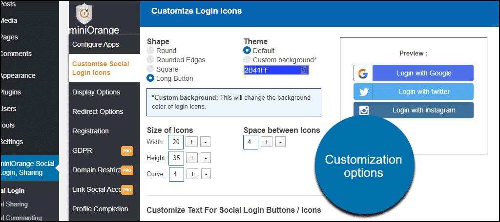customizing social login icons