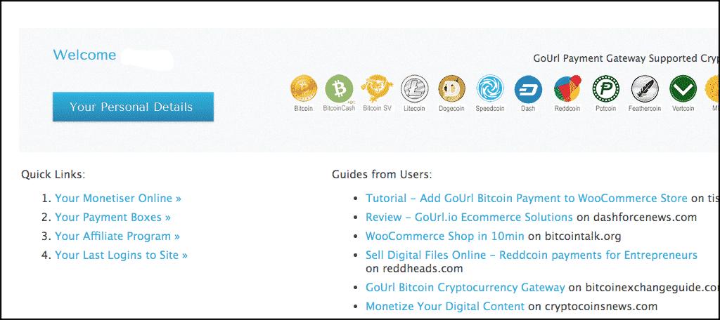 Account main page