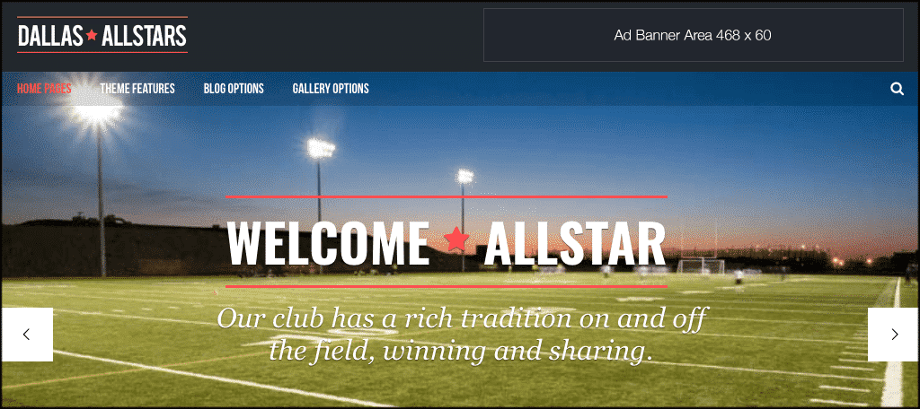 AllStar sports blog theme