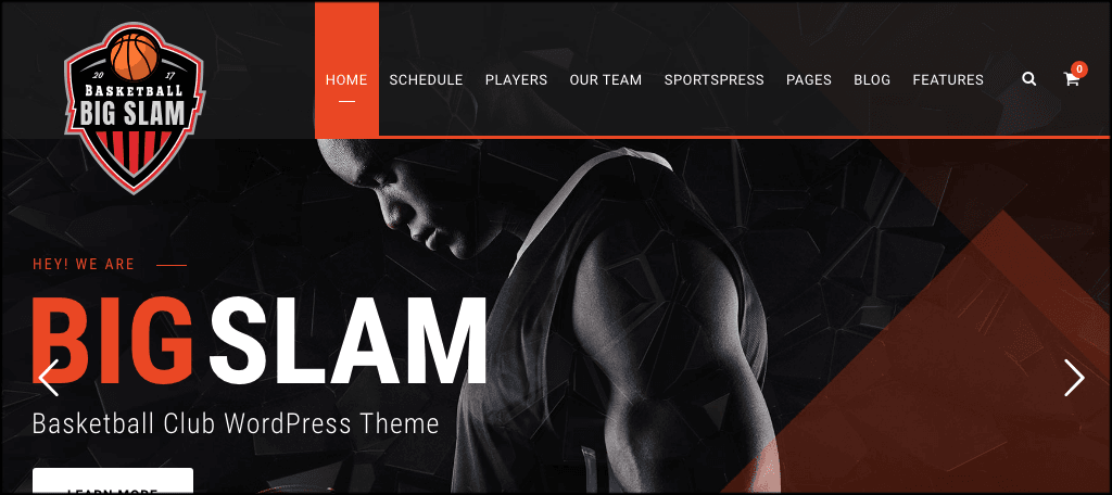 BigSlam sports blog theme