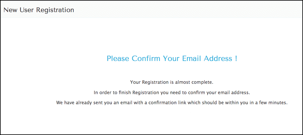Confirm email for bitcoin for wordpress plugin