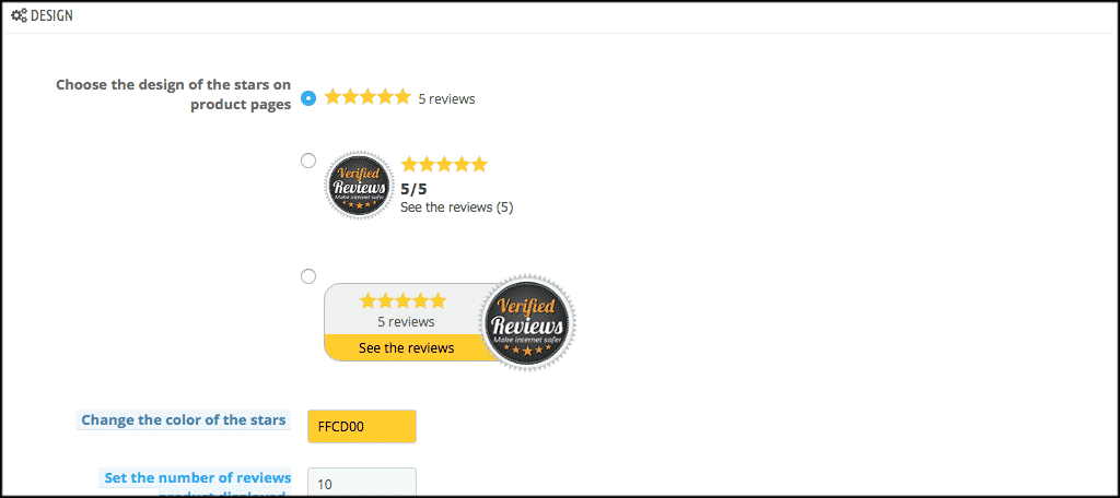 Design the verified reviews widget