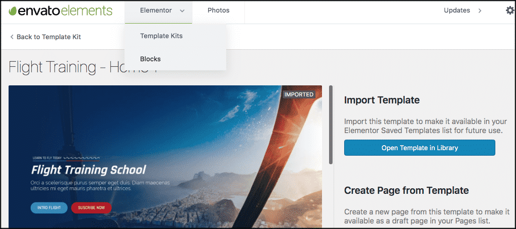 Click elementor tab and then blocks