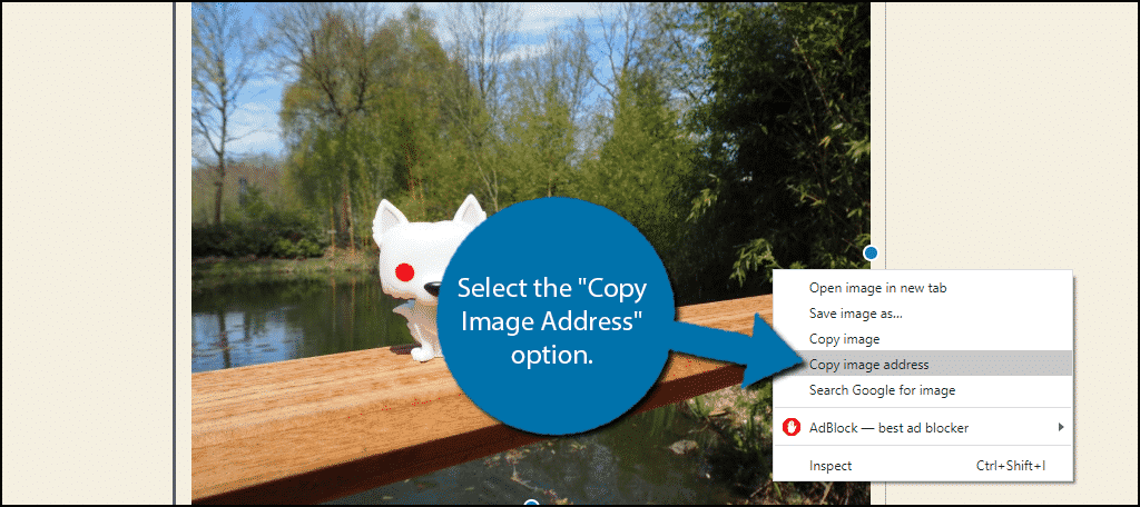 Copy Image Address