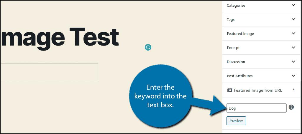 Enter Keyword