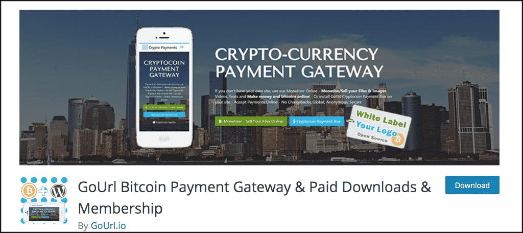 GoUrl Bitcoin payment Gateway plugin