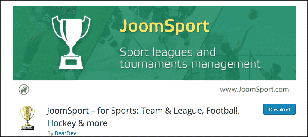 JoomSport plugin for sports blog