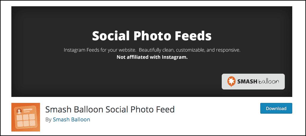 SmashBalloon Instagram feed plugin