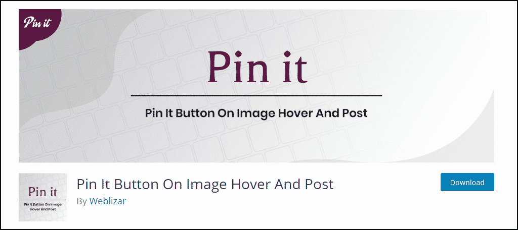 Pin It WordPress plugin