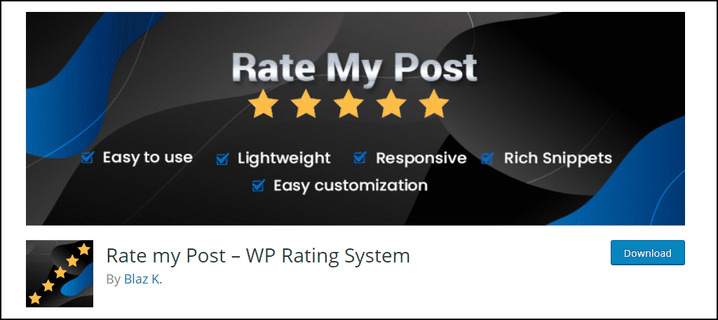 Rate my Post WordPress plugin