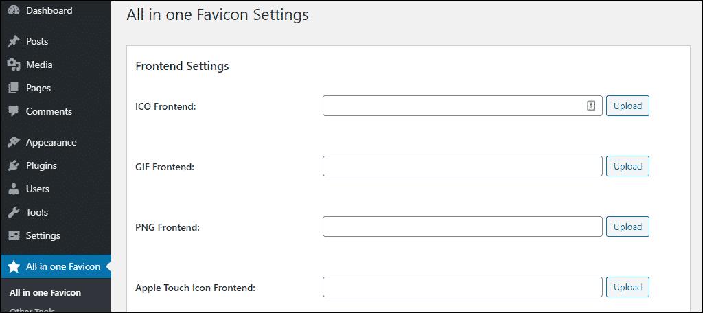 options for favicon file