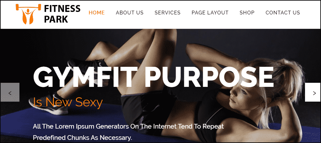 Fitness Park WordPress theme
