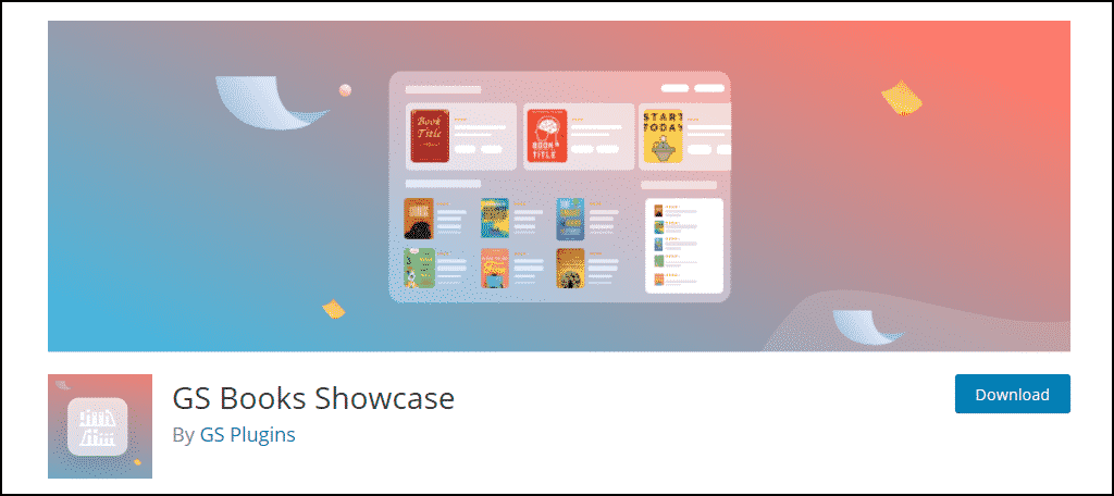 GS Books Showcase WordPress plugin