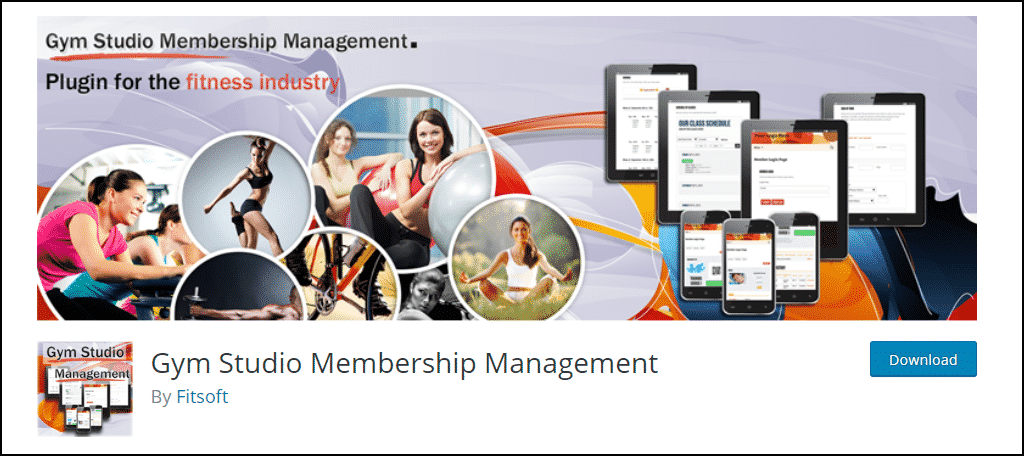 Gym Studio Membership Management WordPress plugin