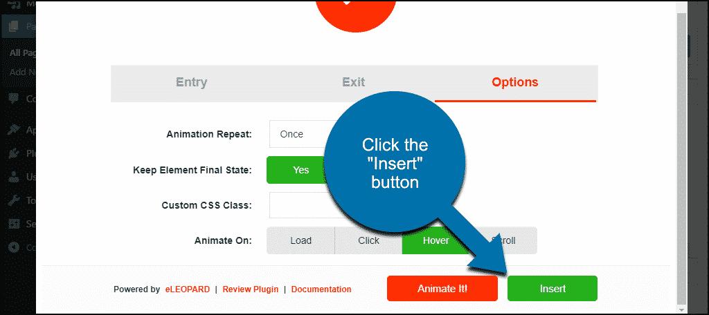 "click the ""Insert"" button"