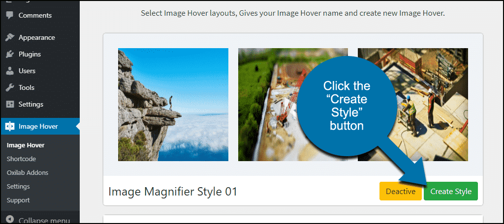 "click the ""Create Style"" button"