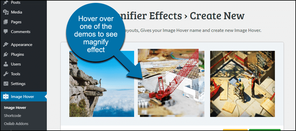 hover over demo images to see effect