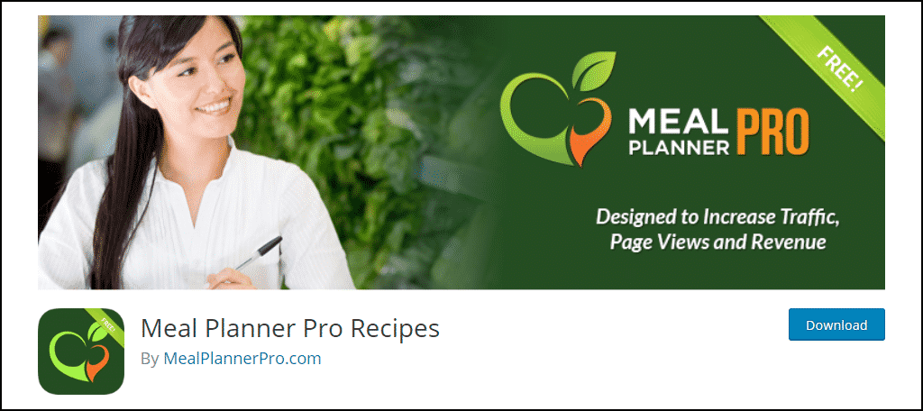 Meal Planner Pro Recipes WordPress plugin