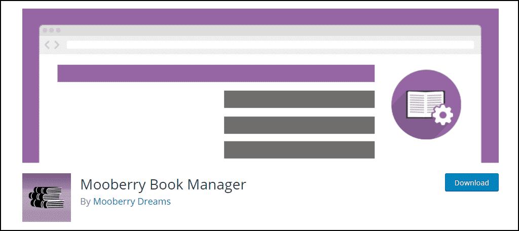 Mooberry Book Manager WordPress plugin