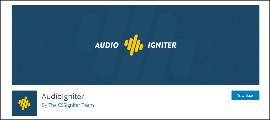 AudioIgniter WordPress plugin