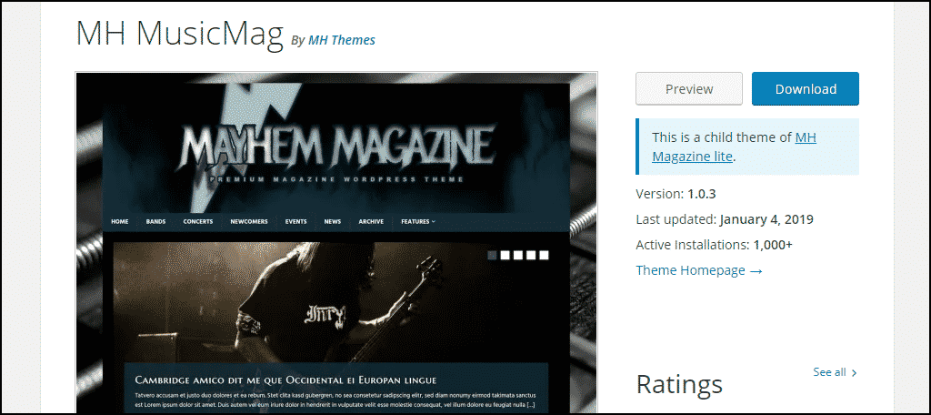 MH MusicMag WordPress theme