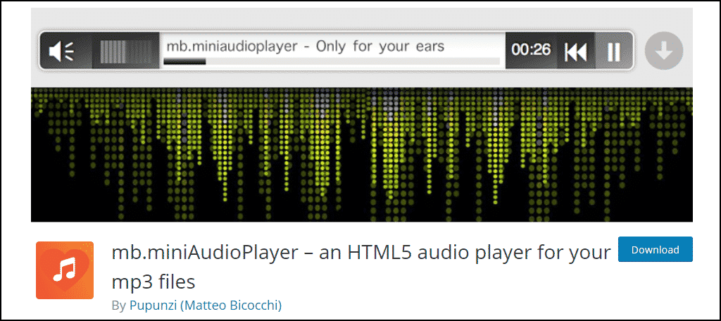 mb.miniAudioPlayer WordPress plugin