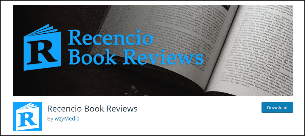 Recencio Book Reviews WordPress plugin