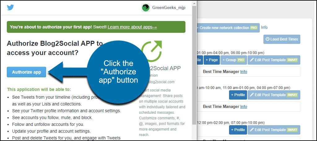 """click the """"Authorize app"""" button"""