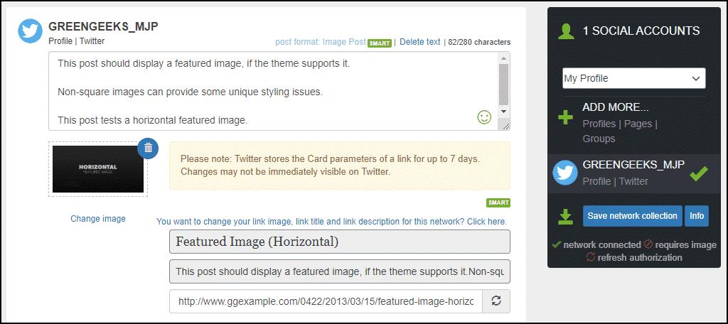 post editing page