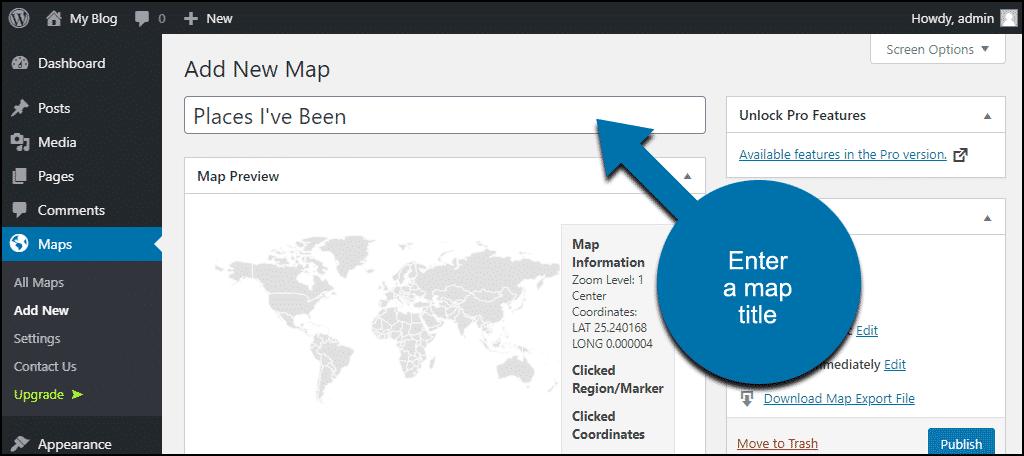 enter a map title