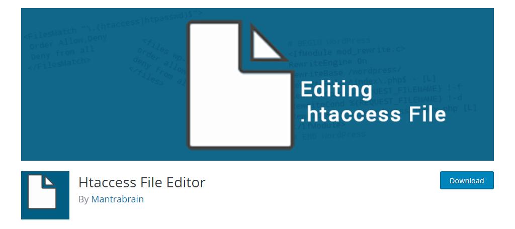 Htaccess File Editor