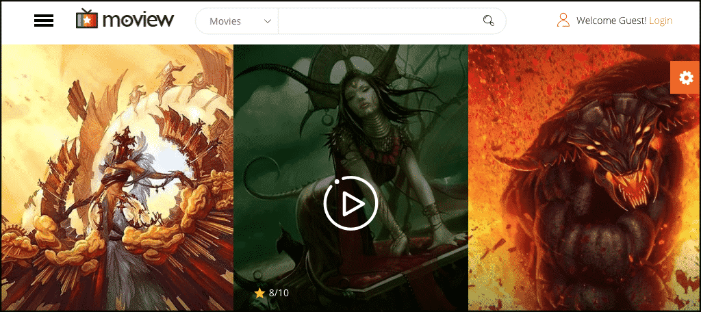 Moview theme for movie review blog