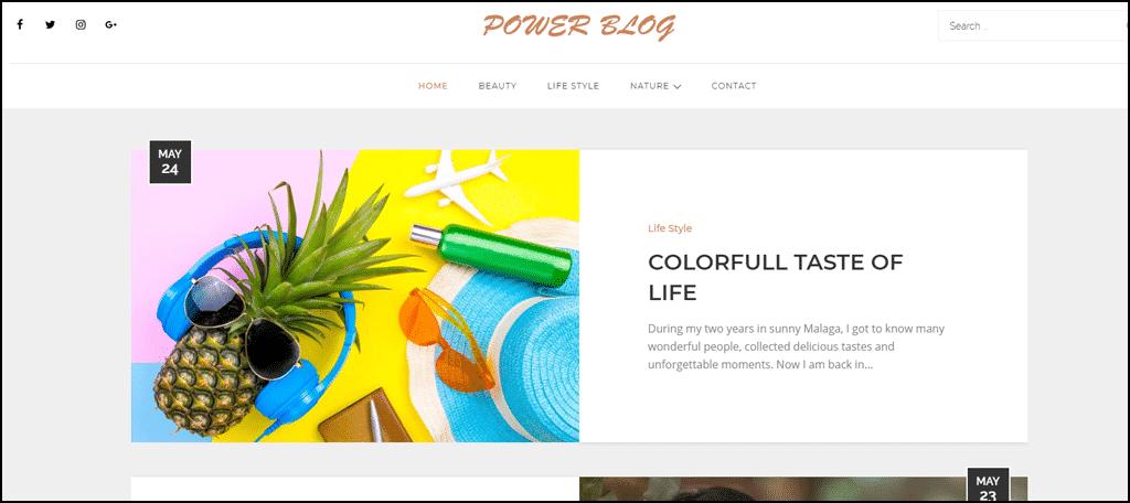Power Blog