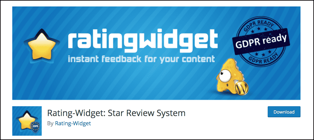 Rating widget for movie review blog